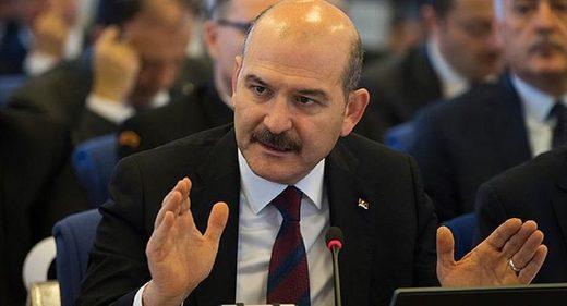 ministro del Interior turco, Suleiman Soylu,