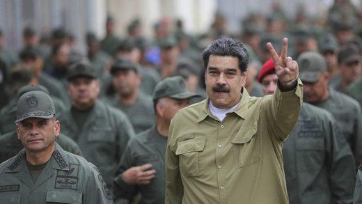 Maduro y militares venezolanos