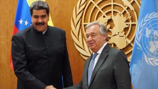 Antonio Guterres Nicolás Maduro