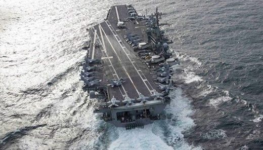 aircraft carrier USS Abrahm Lincoln portaaviones