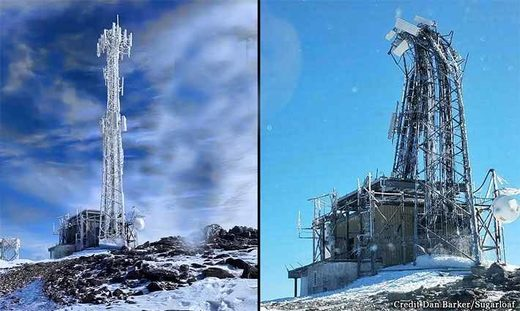 Sugarloaf Mountain radio tower collapse