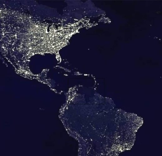 blackout Venezuela satellite