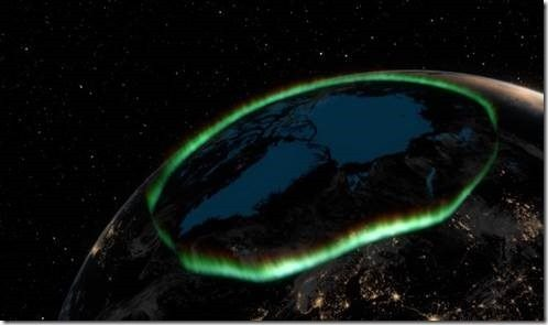 aurora magnetic pole
