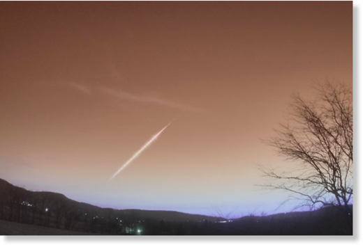Meteor observed by camera in Douglassville,