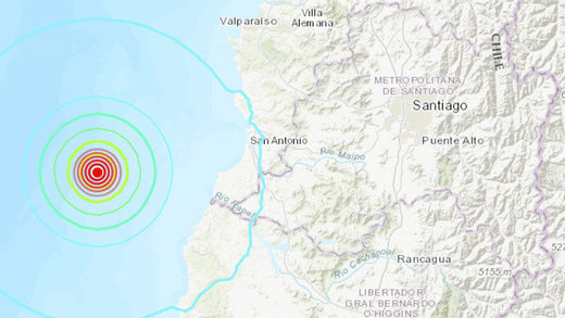 earthquake chile