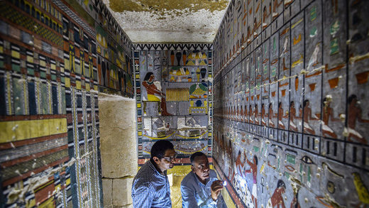 egypt tomb colorful
