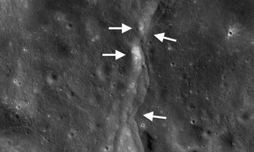 moon crust quake,luna,luna encoge