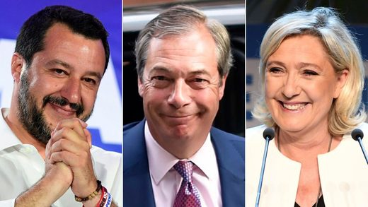 Salvini, Farage, Le Pen