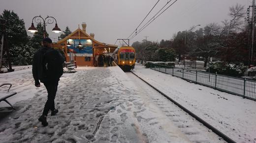Imagen del temporal vivido en Australia estos días ,nieva en Australia