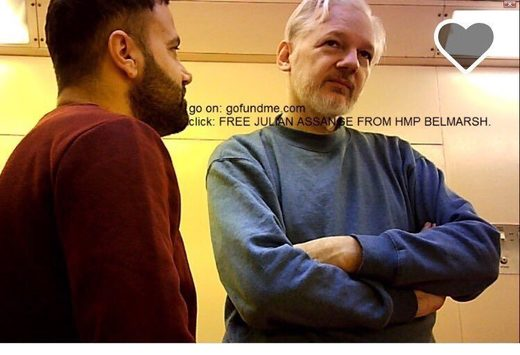 assange in belmarsh prison