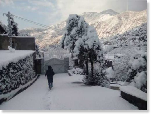 This has amazed the locals as Chitral witnessed snowfall first time in 30 years in the summer season.