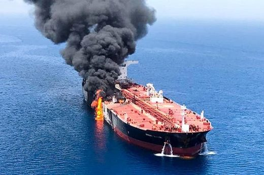 attacked tanker buque petrolero Gulfo Oman