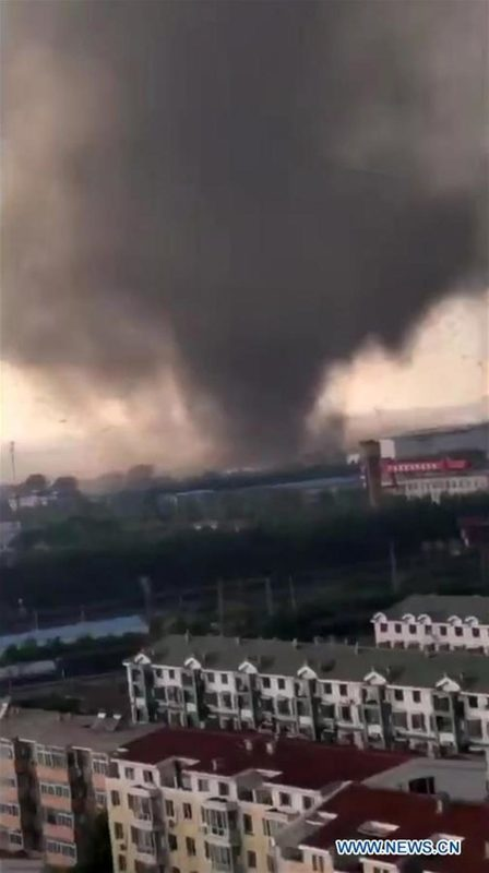 Tornado hits Kaiyuan City, China