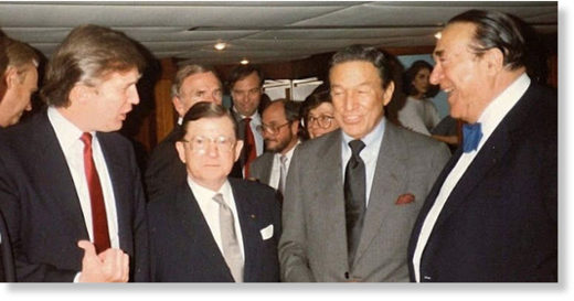 Trump with Robert Maxwell
