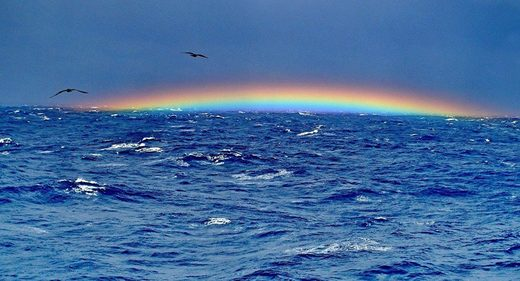 ocean sea bermuda triangle rainbow