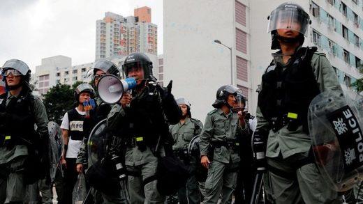 policía Hong Kong 1