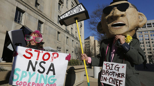 Protest against NSA spying