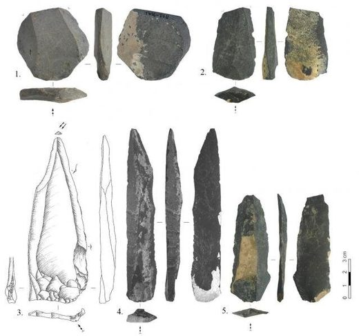tools uncovered at the Tolbor