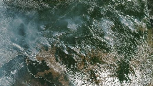 Smoke from fires in Brazil's Amazon rainforest