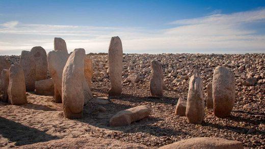 El dolmen de Guadalperal fue saqueado en época romana.