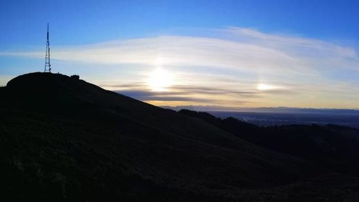 Sun dog over Canterbury, NZ