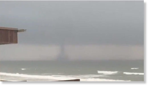 Water spout spotted off Long Island