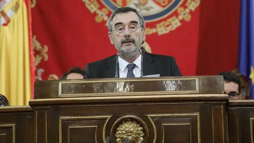 El presidente del Senado, Manuel Cruz.