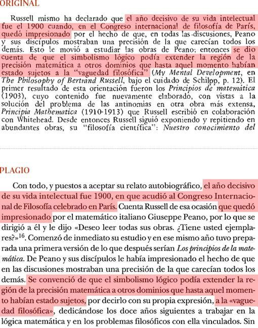 Plagio del libro de Cruz (pág. 28) a «Historia de la Filosofía», de Nicola Abbagnano (páG. 627)