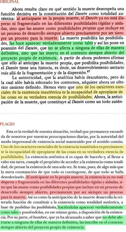 Plagio del libro de Cruz (pág. 193) a «Introducción a Heidegger», de Vattimo (Págs. 50-51) - ABC