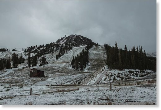 Mammoth Mountain gets first dusting of the season.