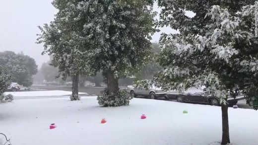 Texas snow in October
