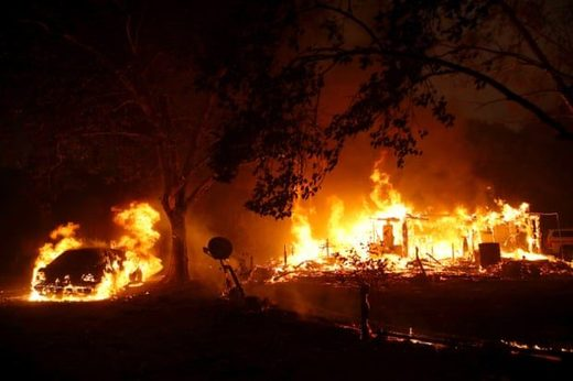 The Kincade fire consumed homes in Geyserville, California