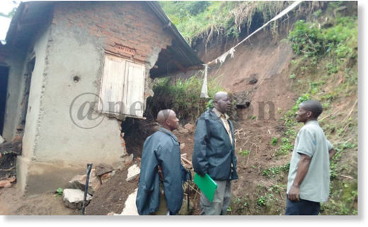 The house that was hit by mudslides on Thursday in Kasese