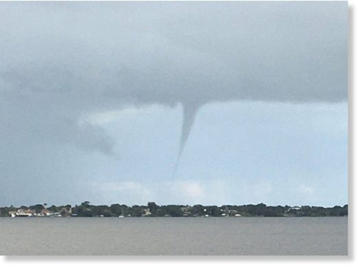 Waterspout off Hutchinson Island