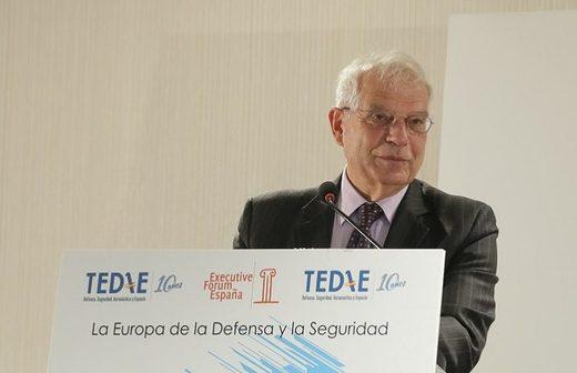 Borrell insiste en con el proyecto de un ejército europeo para la consolidación de la UE