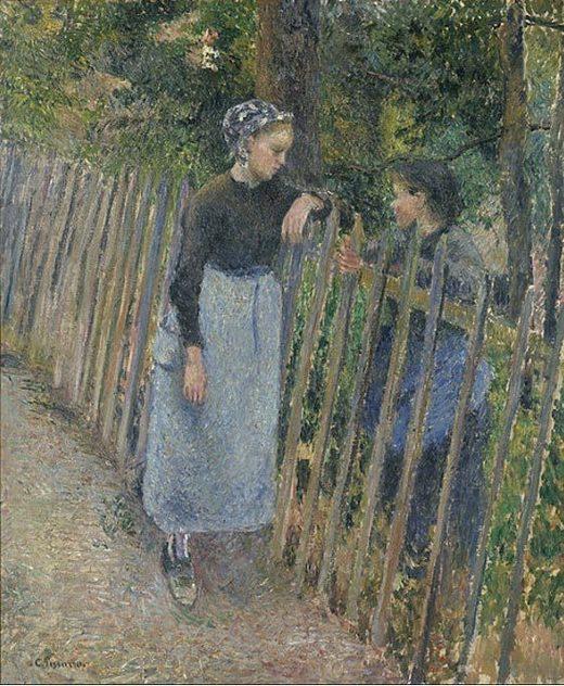 Conversación (1881) Camille Pissarro