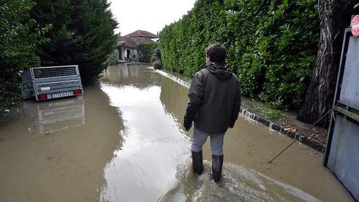 Floods  in Maubourguet, south western France
