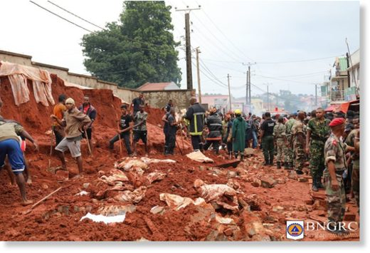 Heavy rain caused flash floods and landslides in parts of Antananarivo, Madagascar, 08 January 2020.
