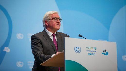 Presidente Frank Walter Steinmeier durante la conferencia de Munich 2020