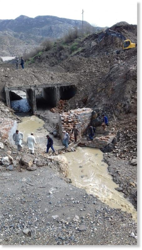 Flood and rain damage in Khyber Pakhtunkhwa, Pakistan, March 2020.