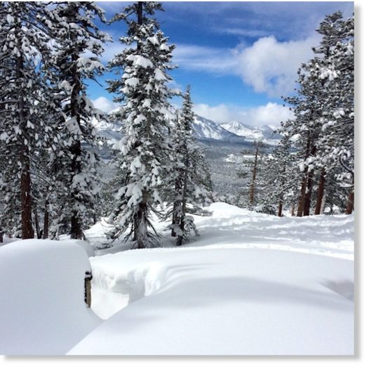 The Sierra snowpack has been boosted over the last few days.