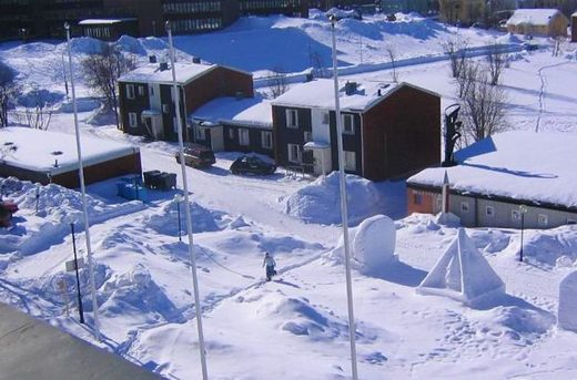 Record snow Sweden