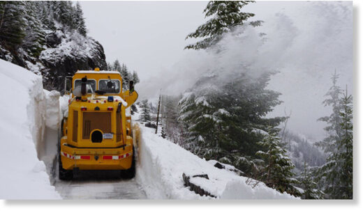 Crews are making good progress in plowing open the Going-to-the-Sun Road in Glacier National Park.