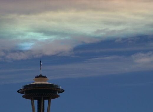 Fire rainbow over Seattle, WA
