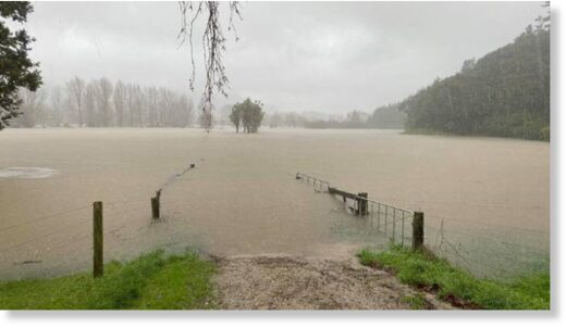 Flooding on the Coromandel Peninsula at the start of June.