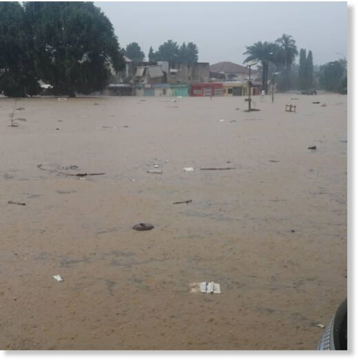 Floods in Abidjan District, Cote D'Ivoire, 25 June 2020.
