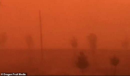 Sandstorm in Hotan, China