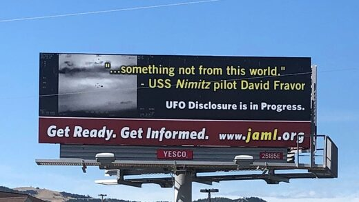 UFOs disclosure billboard