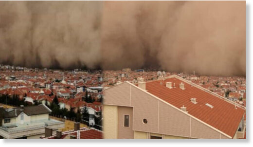 A rare sandstorm engulfed Polatlı and Haymana districts in the capital Ankara on Sept. 12 which left six people wounded.