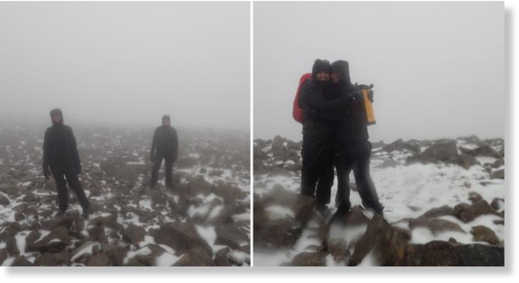 Winter is coming: Scotland's first snow of the season grazes summit of Ben Nevis as summer officially ends